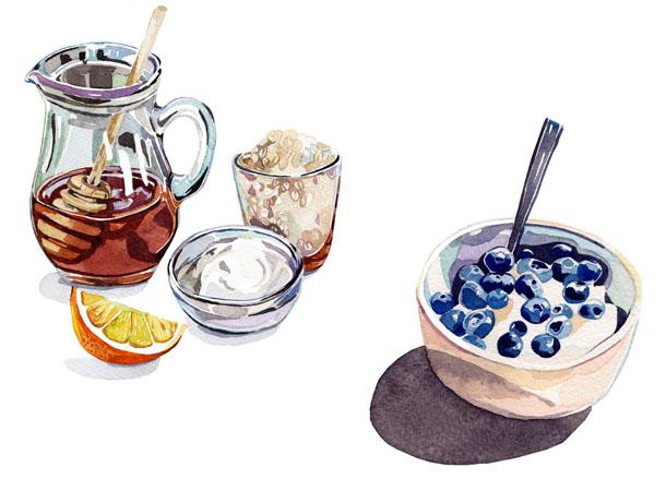 ilustrações a aguarela - Holly Exley