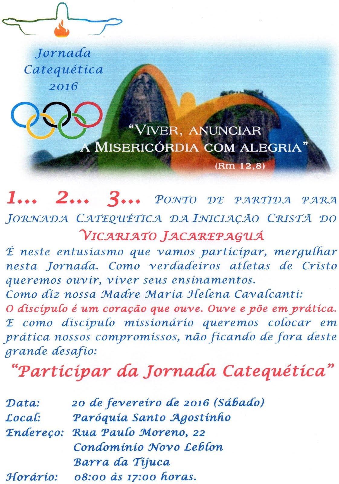 Atenção Vicariato Jacarepaguá!