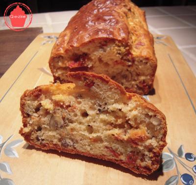 cake tomates séchées fromage noix