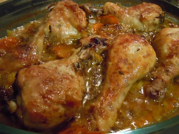 Muslos de pollo asados cocinar en casa es for Cocinar 2 muslos de pollo
