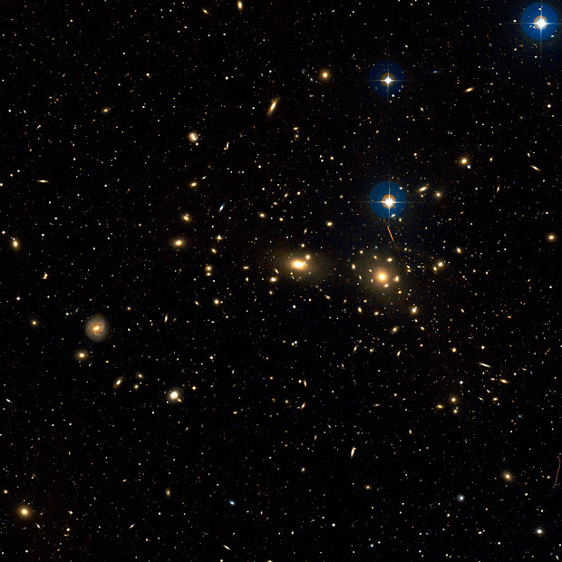 Picture of the core of Abell 1656, the Coma Cluster of Galaxies