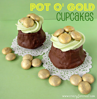 Recipe: Pot o&#8217; gold cupcakes