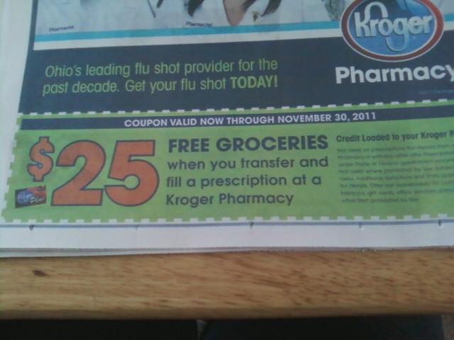 Coupon to transfer prescription to kroger