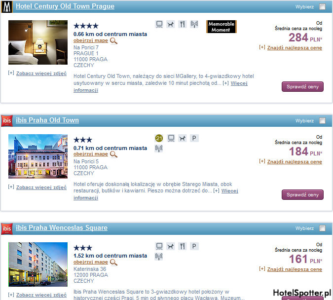 Tanie hotele Accor - Praga Czechy