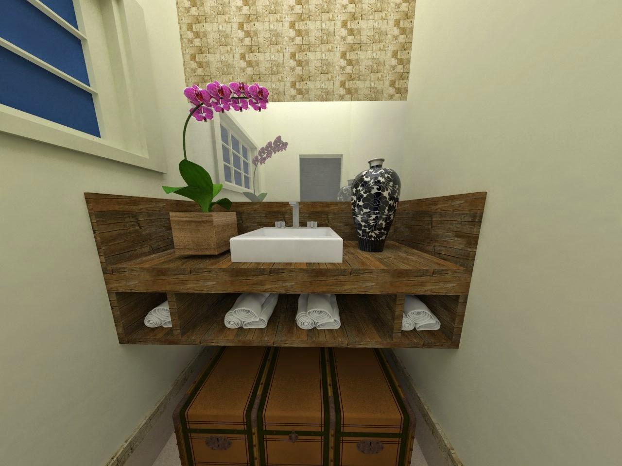 de Interiores Alice Lopes: Lavabo com base de cuba em madeira de  #496827 1280x960