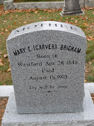 Tombstone TuesdayWestford, MAJohn Carver and Mary Carver Brigham