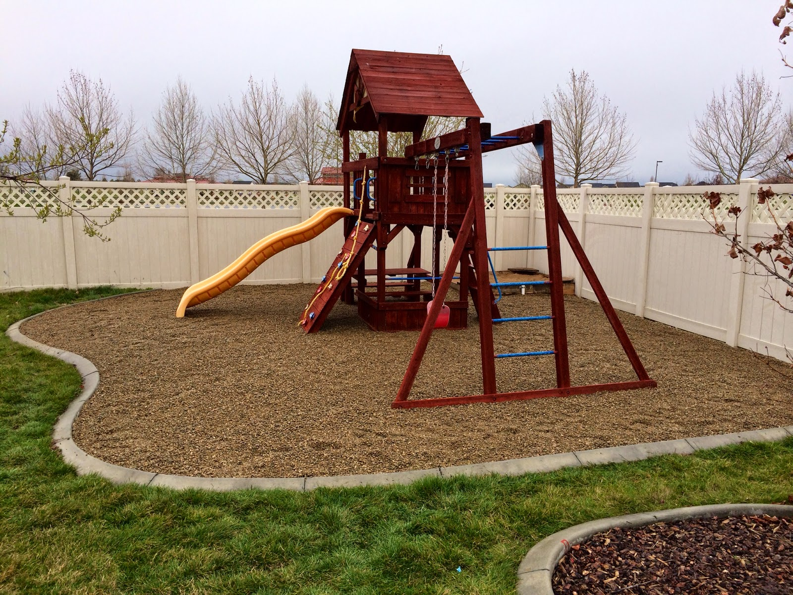 pea gravel playground sand play area just repainted and added pea gravel this spring bedroom house in meridian at bridgetower