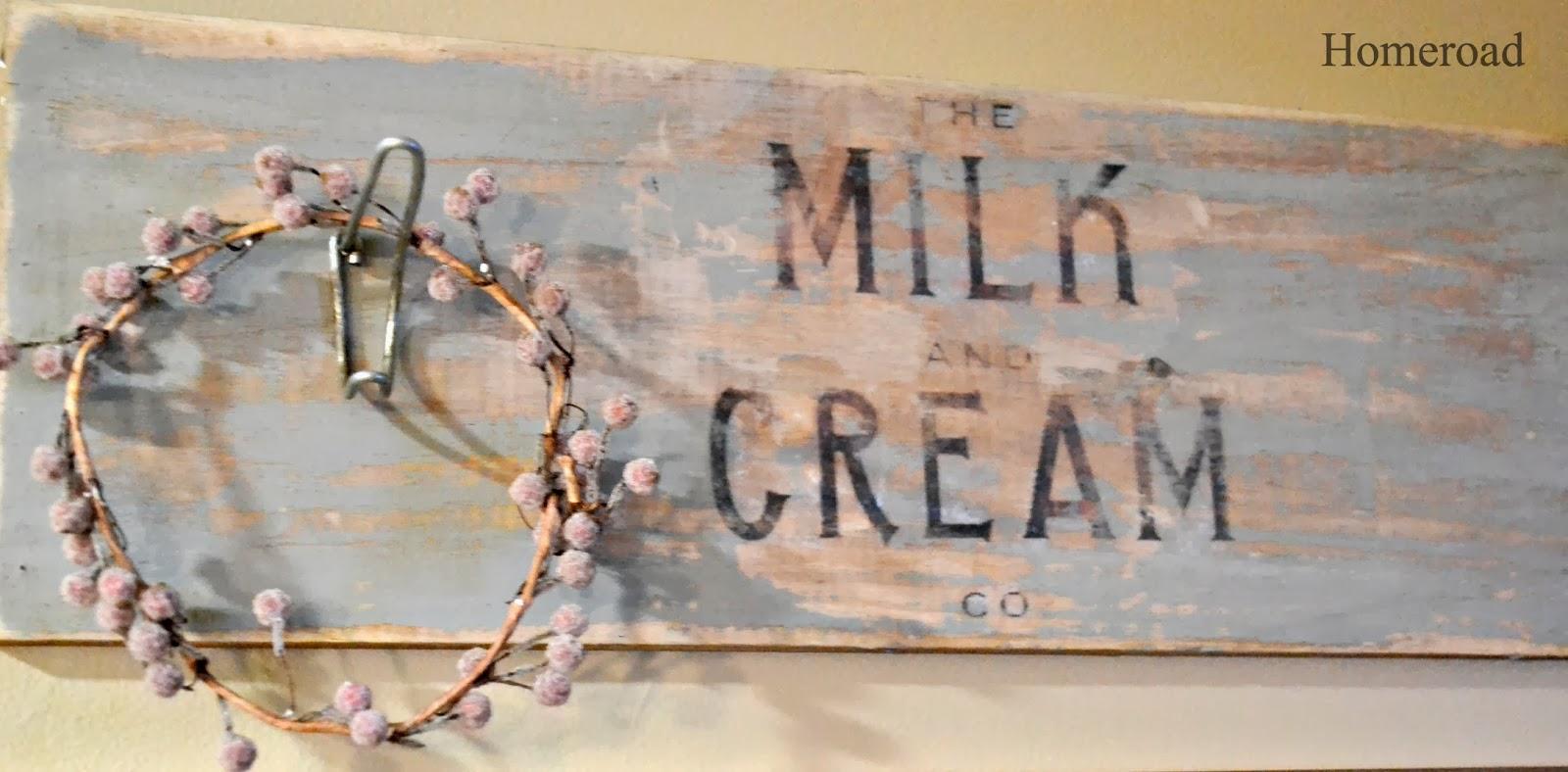 milk and cream crate sign www.homeroad.net