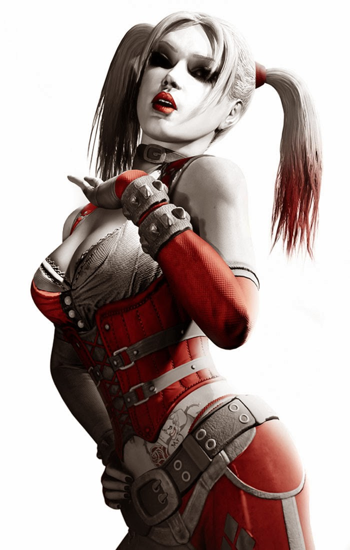 Sexy Arkham Asylum Harley Quinn Rogue Joker Cosplay Art Concept Hot