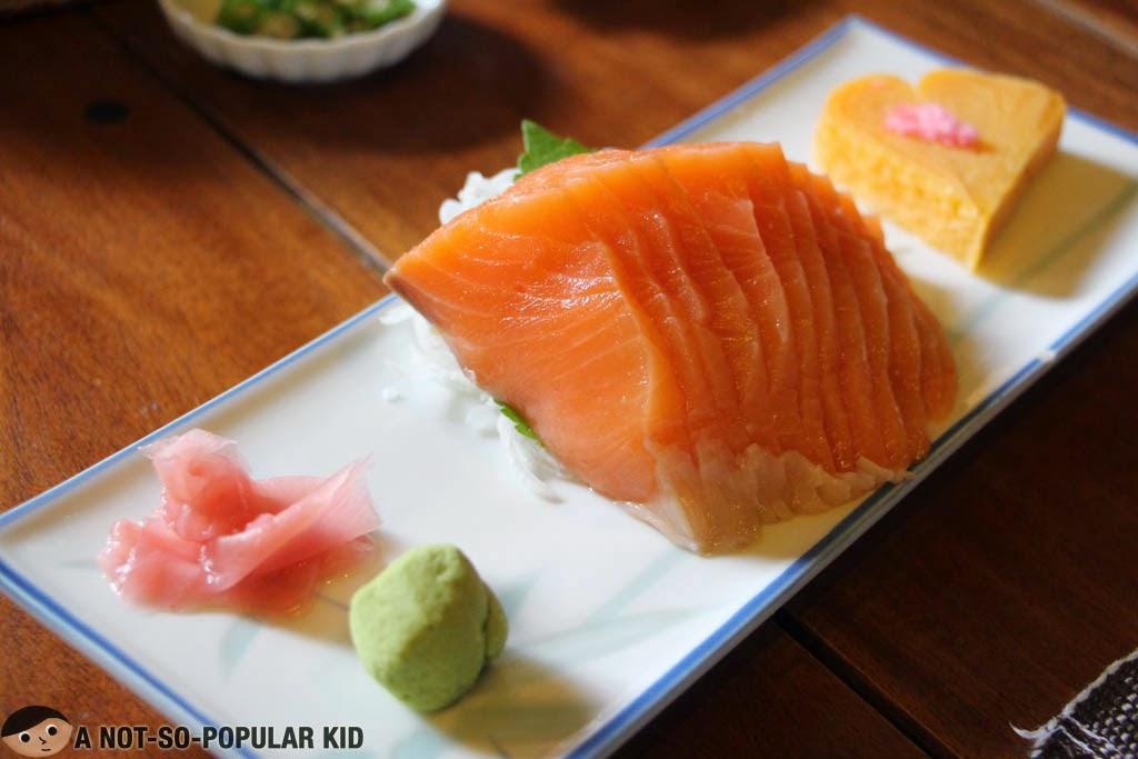 Salmon Sashimi in Baguio - Chaya Restaurant