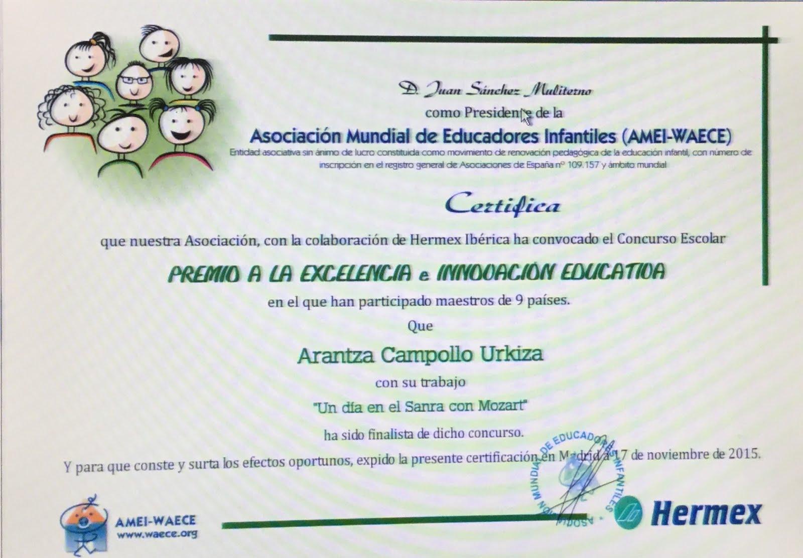 Finalistas premios excelencia educativa e innovación