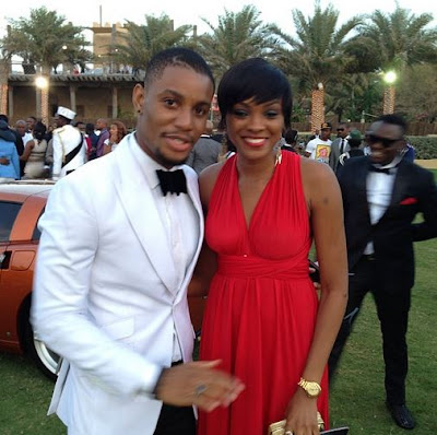 Alex Ekubo at 2face's wedding