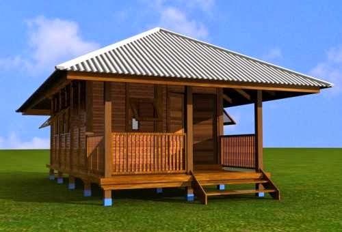 Rumah kabin kayu