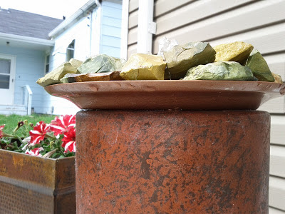 DIY patio fountain