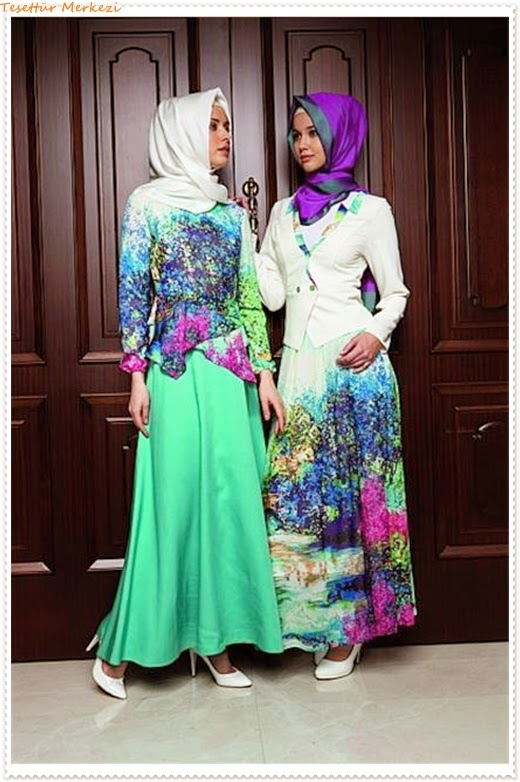 Tekbir 2014 İlkbahar Yaz Tesettür Elbise Modelleri