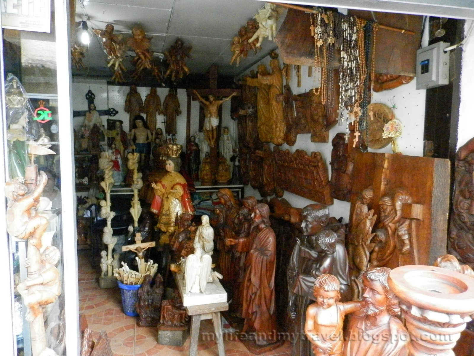 My life and my travel walking along the wood carvers road Home furniture laguna philippines