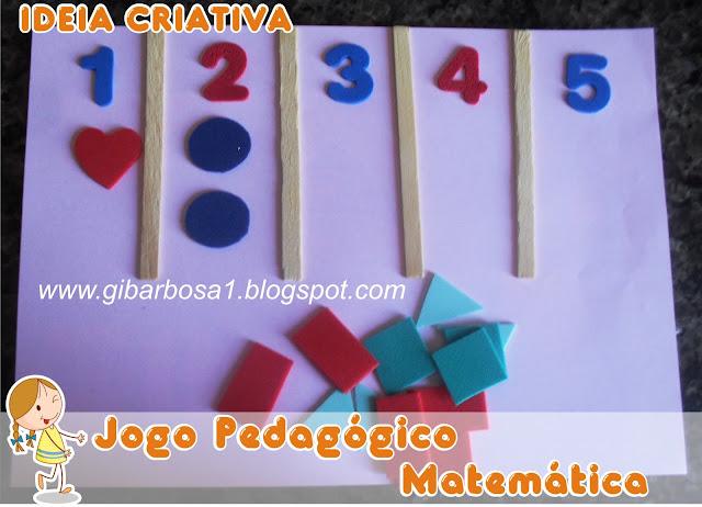 Jogo Pedagógico Número e Quantidade
