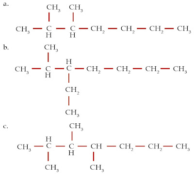 2,3-dimetilheptana 3-etil-2-metilheptana 2,3,4-trimetilheptana