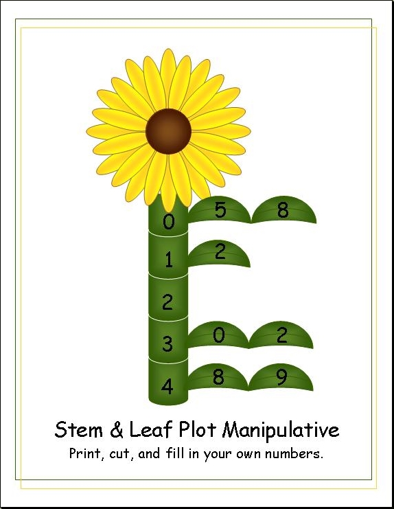 Simply the good life free printables for Stem and leaf plot template