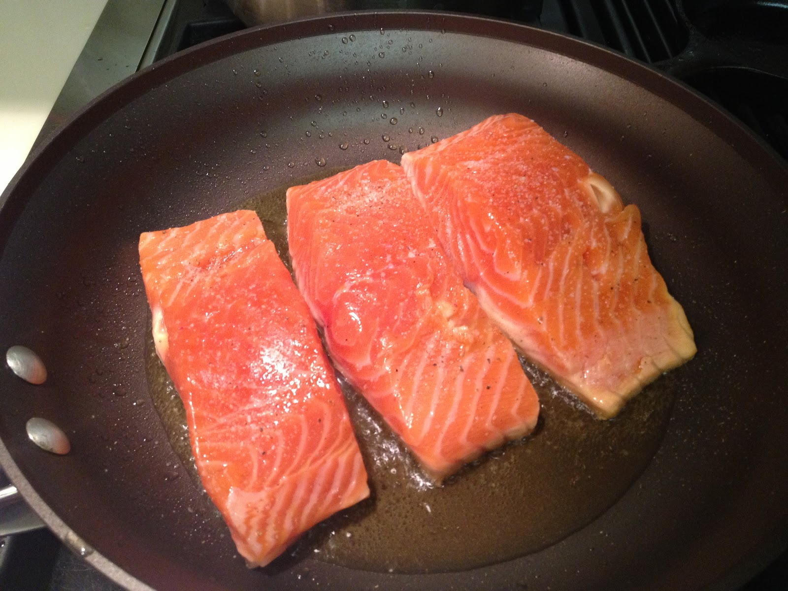3 Of The Salmon Is Visibly Cooked
