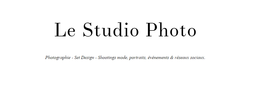 Le Studio Photo : photographe Lille & Boulogne sur mer, set design et shootings.