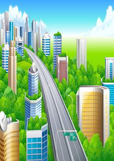 ciudad atravesada por circunvalación