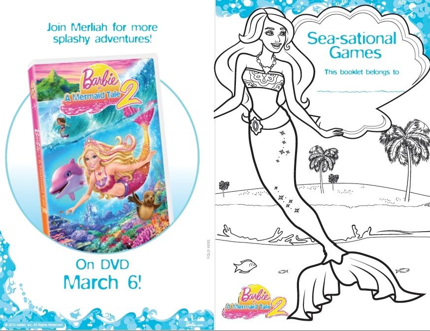 Barbie en la Princesa y la Cantante Libro para imprimir de Barbie