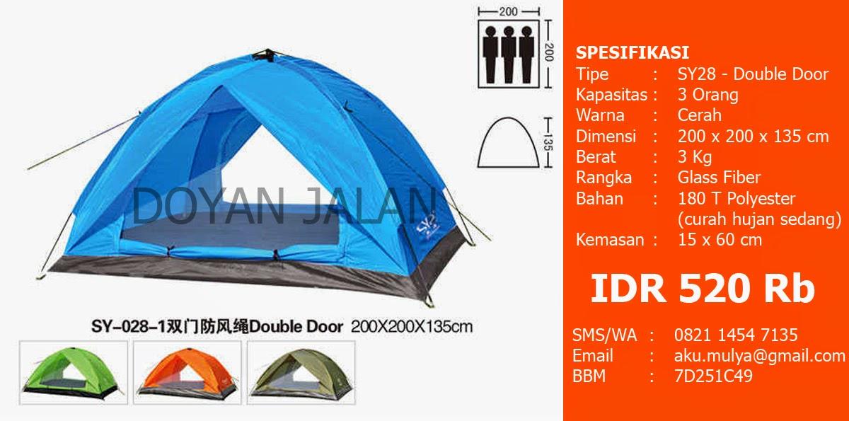 Harga Tenda Dome Murah Kapasitas 3 Orang