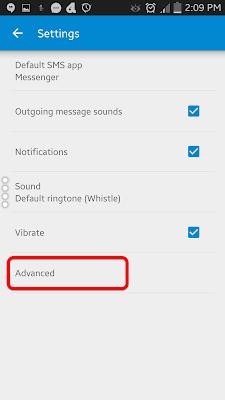 Android messenger மேலதிக அமைப்பு