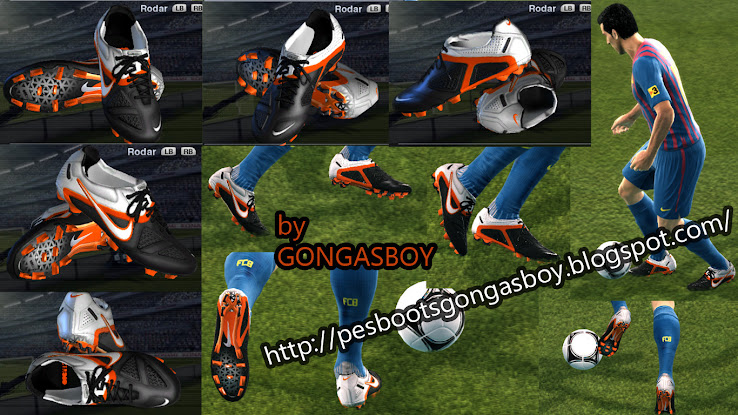 PES 2012 Nike CTR II Black/White/Orange Boot by Gongasboy