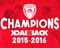 Back II Back Champions 2015-2016