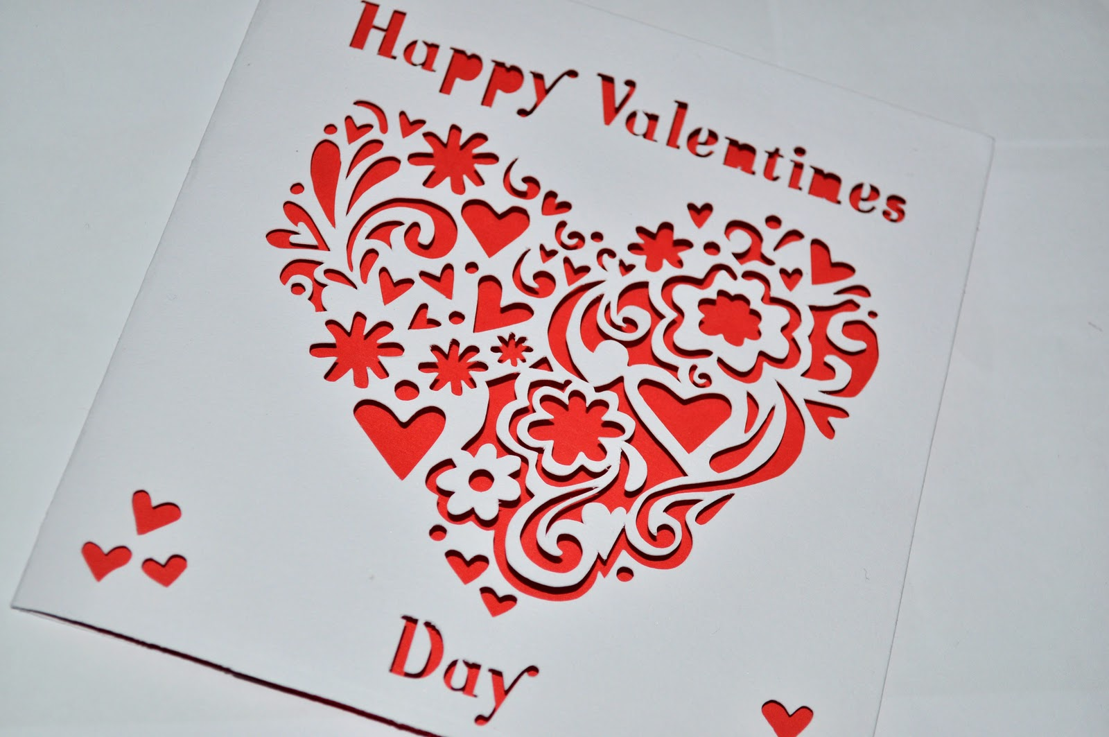 Sweet pea design laser cut valentine 39 s day card for Designs for valentine cards