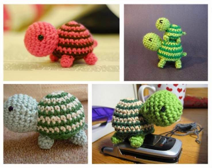 DIY Adorable Striped Crochet Turtle