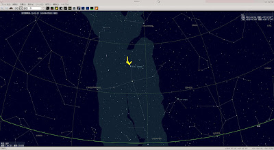 PC-BSD 9.1に標準でインストールされている『KStars』で未来の北極星を確認。