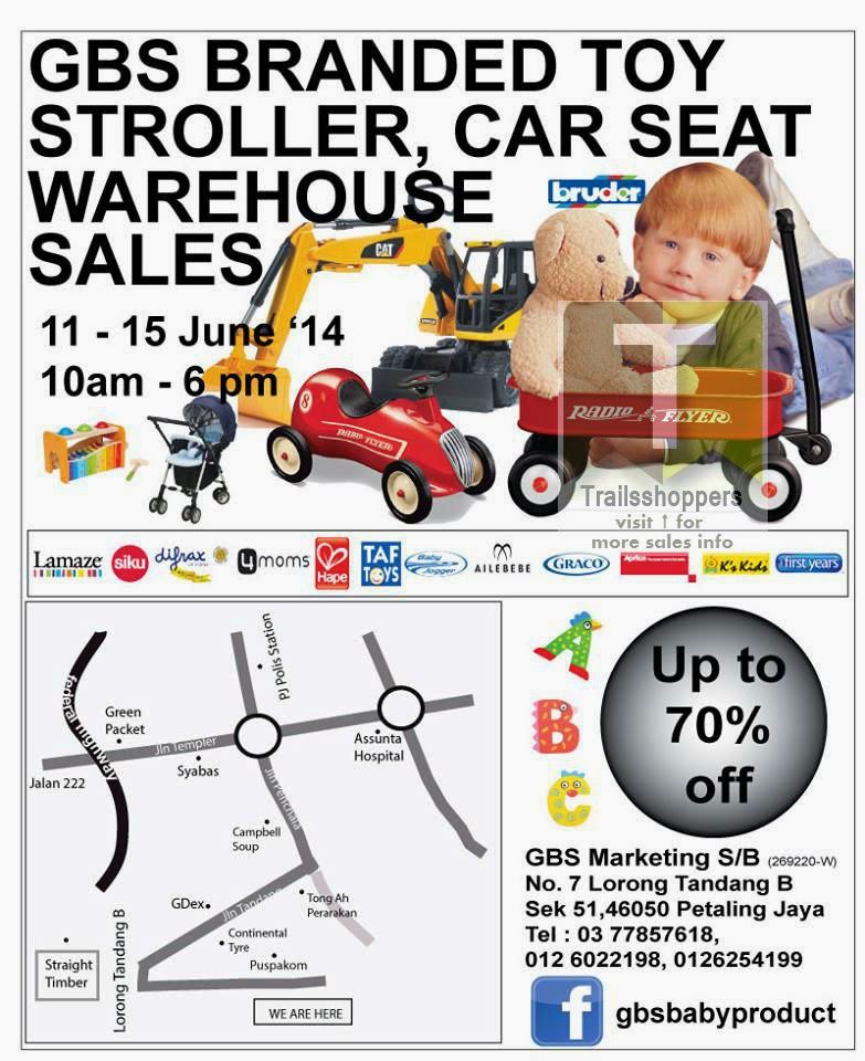 GBS Branded Toys Stroller Car Seat Warehouse Sales Up To 70% Off