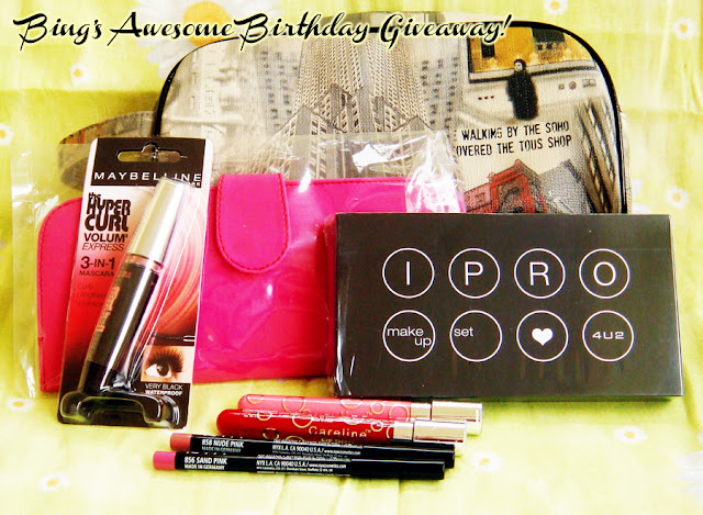 Make up Giveaways from Bing Castro