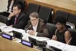 El Presidente del Comité Especial de Descolonización, Xavier Lasso Mendoza, Embajador de Ecuador