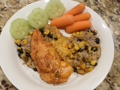 gf southwest chicken and rice bake