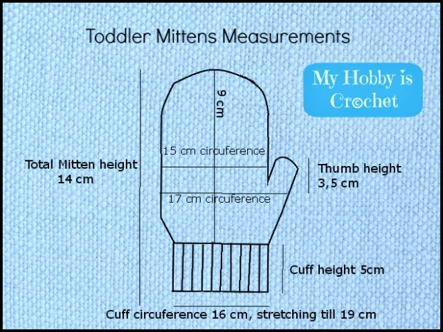 My Hobby Is Crochet Crochet Toddler Mittens Ceyla Free Pattern