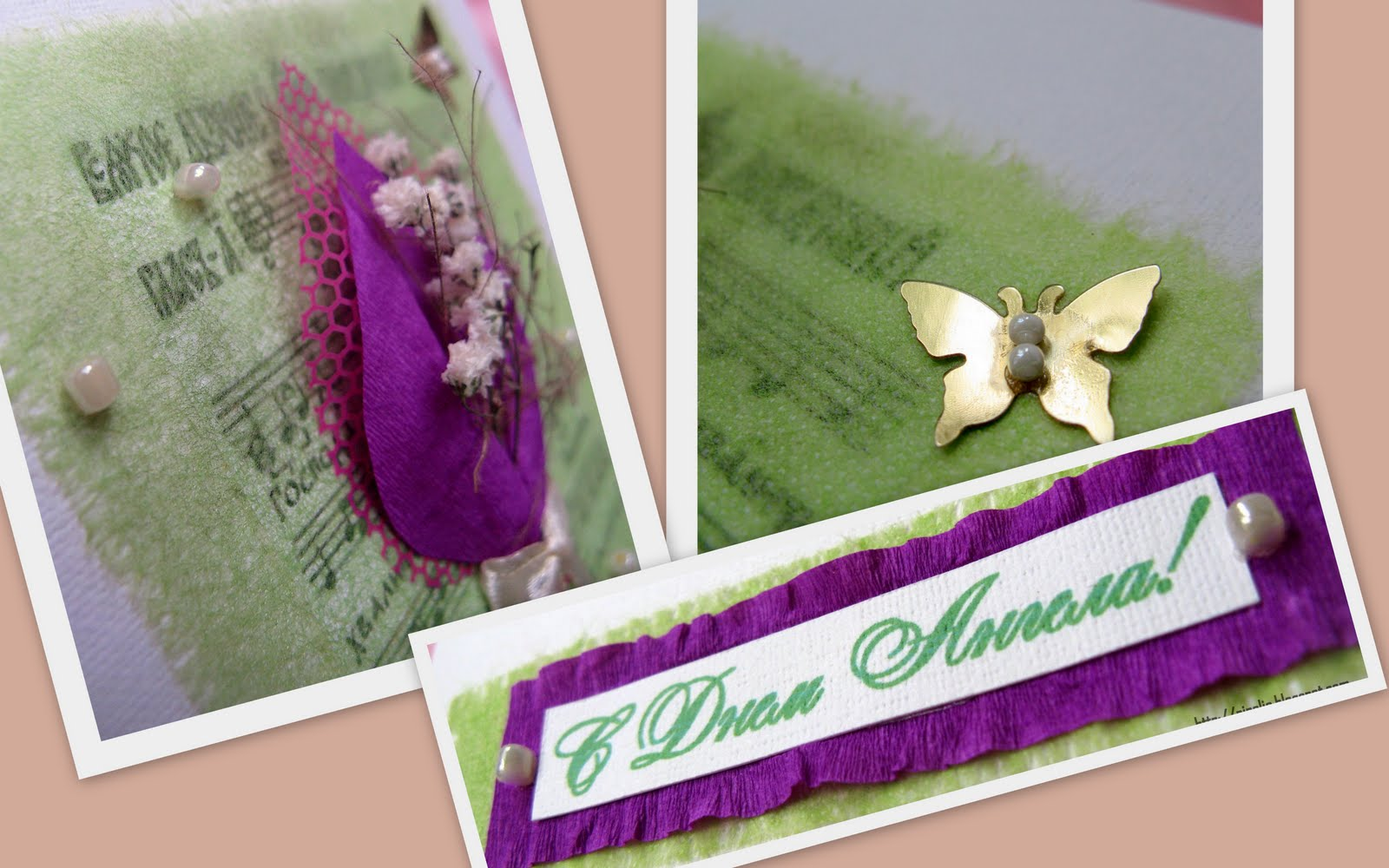 Открытка цветочная с днем рождения