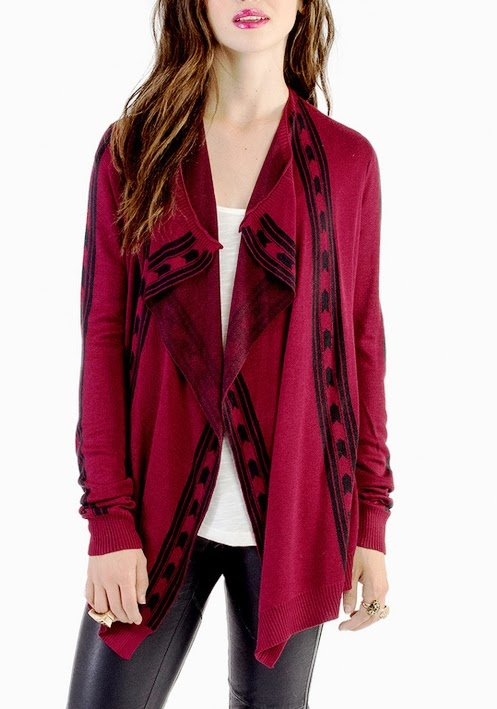 Lovely Tobi Red Lighten Up Cardigan Fashion