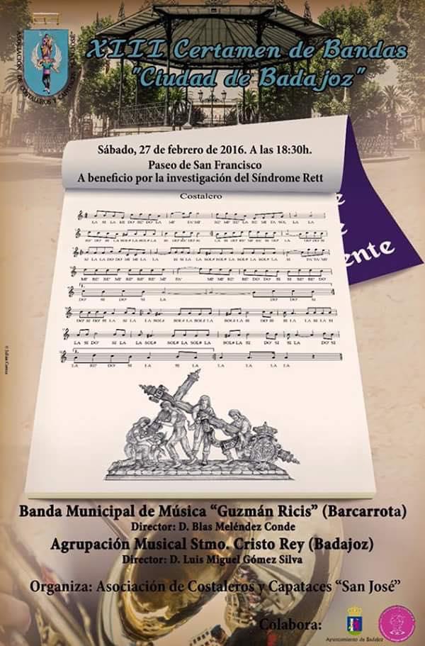 Cartel XIII Certamen de Bandas Ciudad de Badajoz
