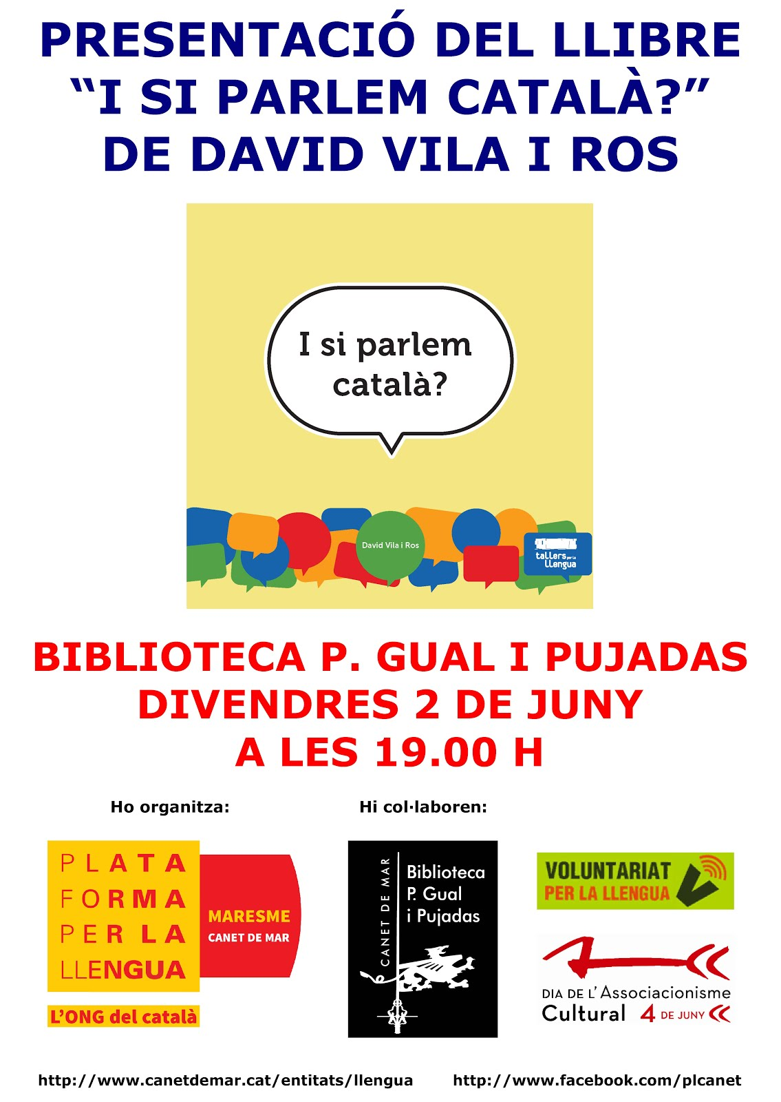 Presentació 'I si parlem català?' a Canet de Mar