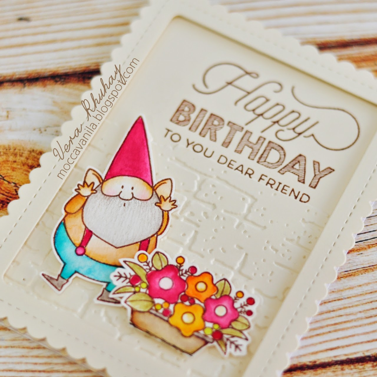 Moccavanila by vera rhuhay gnome birthday card and for this one i imagine that gnome bookmarktalkfo Image collections