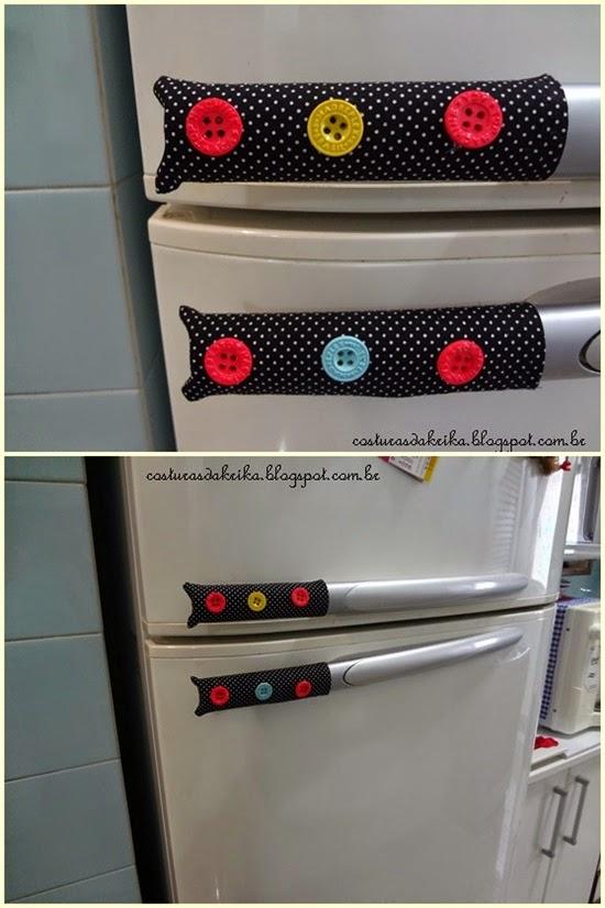puxador porta geladeira tecido