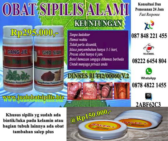 Obat Sipilis Ramuan Tradisional
