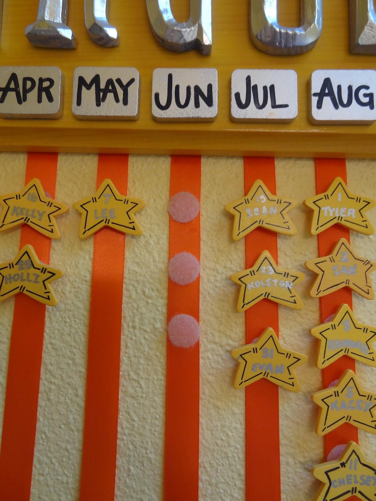 Diy Birthday Calendar : Jon holli s diy birthday calendar