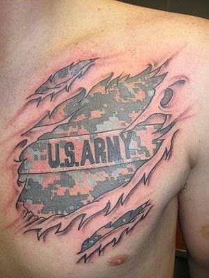 ♥ ♫ ♥ US Army Tattoos Design For Men On Chest  ♥ ♫ ♥