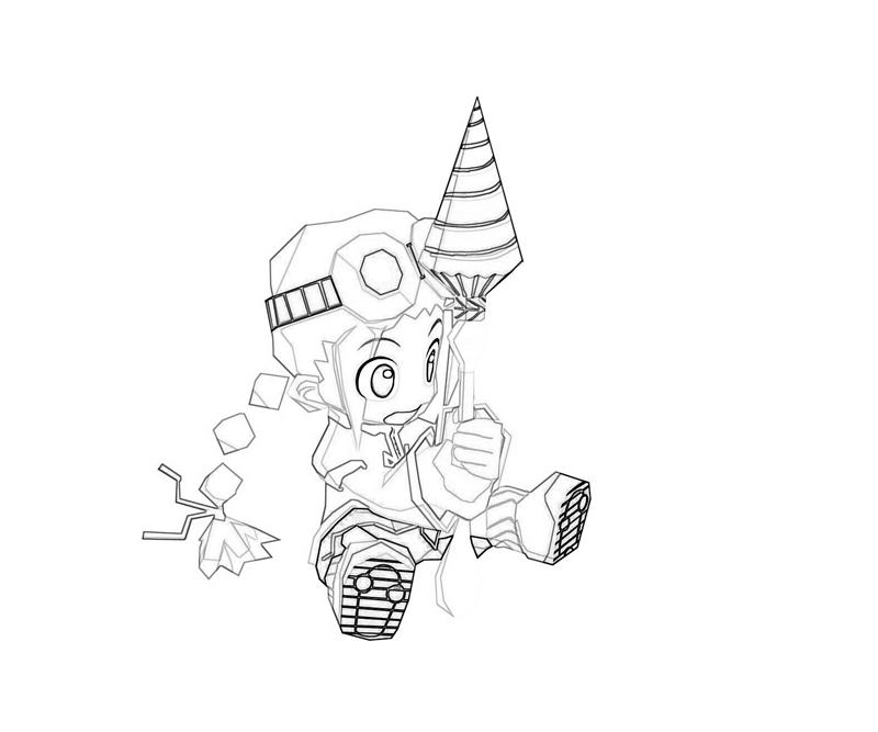 gurumin-parin-drill-coloring-pages