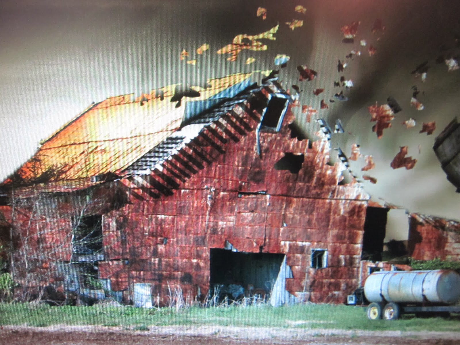 barn in wind